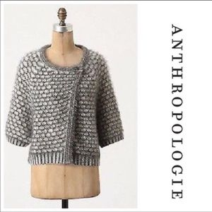 moth empryeal cape style cardigan gray white XS